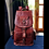 Thumbnail: Personalized Genuine Leather backpack for women girls rucksack