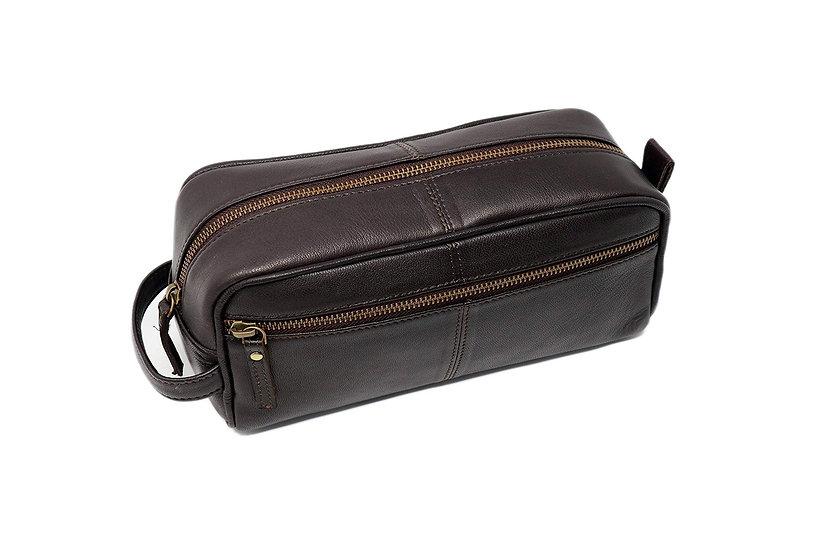 Genuine leather Toiletry Bag Travel Dopp kit Groomsmen Shaving Kit Bag for Men