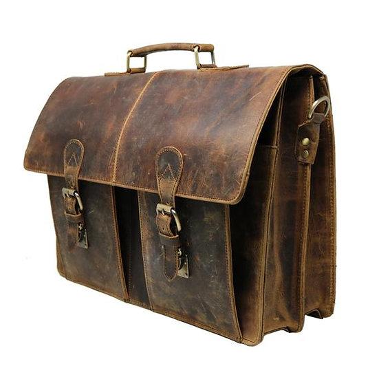 Genuine Leather Messenger Large Laptop Bag Office Briefcase for Men Women