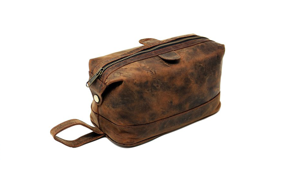 Genuine leather Toiletry Bag for Men Travel Kit Dopp Kit Groomsmen Shaving Kit