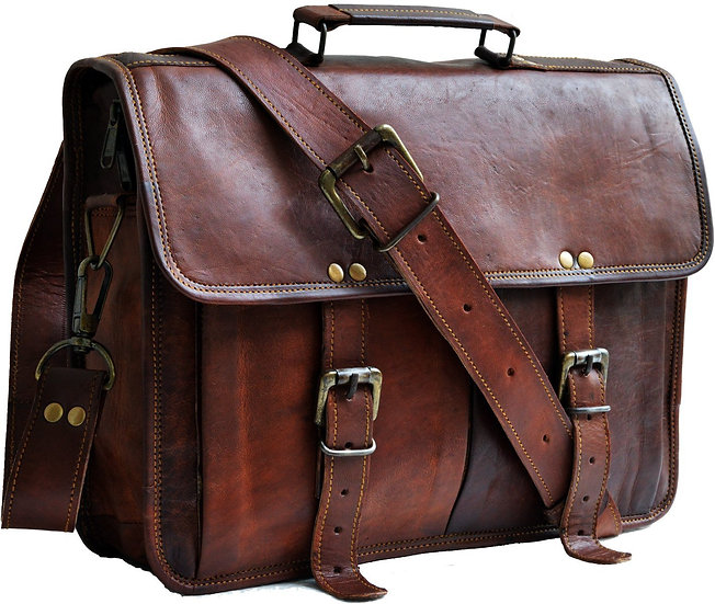 "13"" genuine leather distressed mens laptop bag leather messenger bag for men Bag"