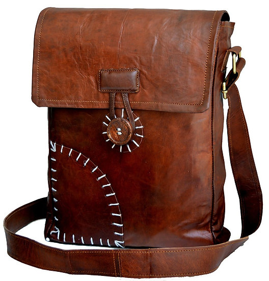 "Jaald 13"" Leather satchel messenger Bag Genuine Leather Messenger Bag"