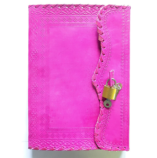 Handmade Genuine Pink Leather Journal Personal Diary Gift For Men Women