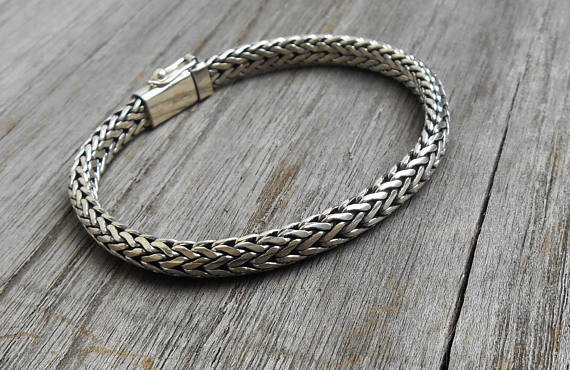 92.5% Sterling Silver Handmade Balinese Designed Bracelet for Men