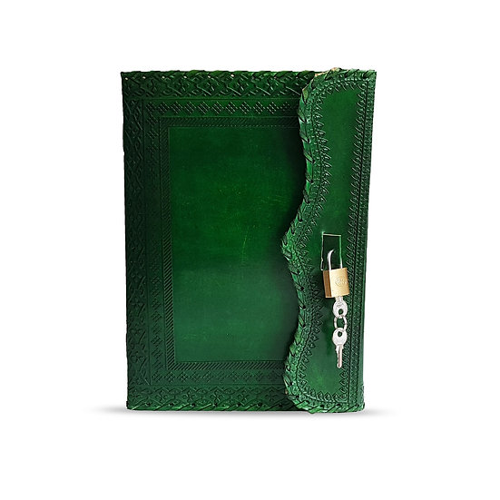 Handmade Genuine Green Leather Journal Personal Diary Gift For Men Women