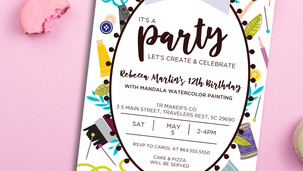 Craft Party Invitation