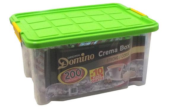 DOMINO COFFEE PADS STRONG - BOX 200 PADS +10 FREE