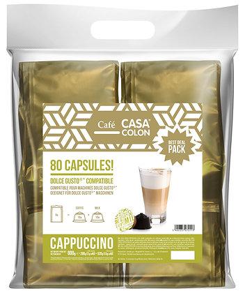 CASA COLON 80 DOLCE GUSTO®* COMPATIBLE CAPSULES - CAPPUCCINO