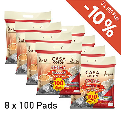 CASA COLON 800 COFFEE PADS - REGULAR