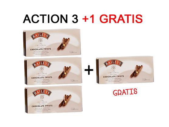 3+1 GRATIS ACTION - BAILEYS® CHOCOLATE TWISTS 120 G