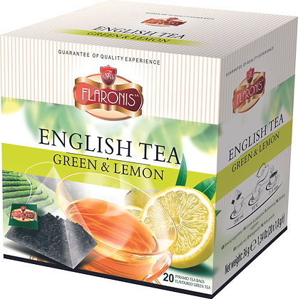 FLARONIS PYRAMID TEA BAGS GREEN WITH LEMON
