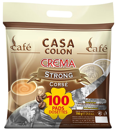 CASA COLON STRONG - 100 COFFEE PADS