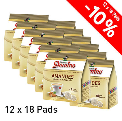 """DOMINO 216 FLAVORED COFFEE PADS """"ALMOND"""""""