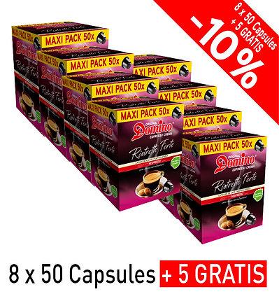 """DOMINO NESPRESSO®* COMPATIBLE COFFEE CAPSULES """"RISTRETTO FORTE""""- 440 capsules"""