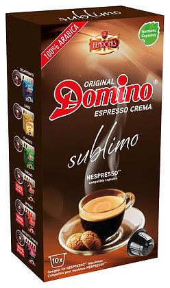 """DOMINO NESPRESSO®* COMPATIBLE COFFEE CAPSULES """"SUBLIMO"""" - 10 capsules"""