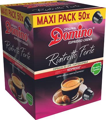"""DOMINO NESPRESSO®* COMPATIBLE COFFEE CAPSULES """"RISTRETTO FORTE""""- 55 capsules"""