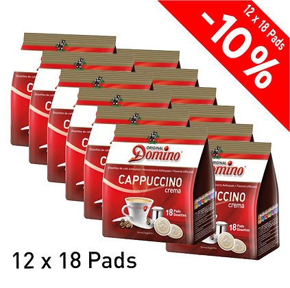 """DOMINO 216 FLAVORED COFFEE PADS """"CAPPUCCINO"""""""