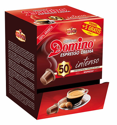 "DOMINO NESPRESSO®* COMPATIBLE COFFEE CAPSULES ""INTENSO""- 55 capsules"