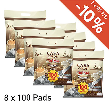 CASA COLON 800 COFFEE PADS - STRONG