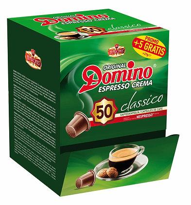 """DOMINO NESPRESSO®* COMPATIBLE COFFEE CAPSULES """"CLASSICO"""" - 55 capsules"""