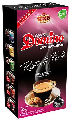 """DOMINO NESPRESSO®* COMPATIBLE COFFEE CAPSULES """"RISTRETTO FORTE"""" - 10 capsules"""