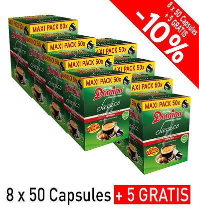 """DOMINO NESPRESSO®* COMPATIBLE COFFEE CAPSULES """"CLASSICO"""" - 440 capsules"""