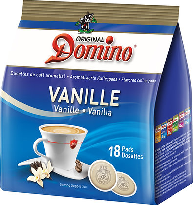 "DOMINO FLAVORED COFFEE PADS ""VANILLA"" - 18 PADS"