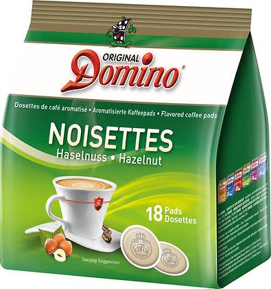 "DOMINO FLAVORED COFFEE PADS ""HAZELNUTS"" - 18 PADS"