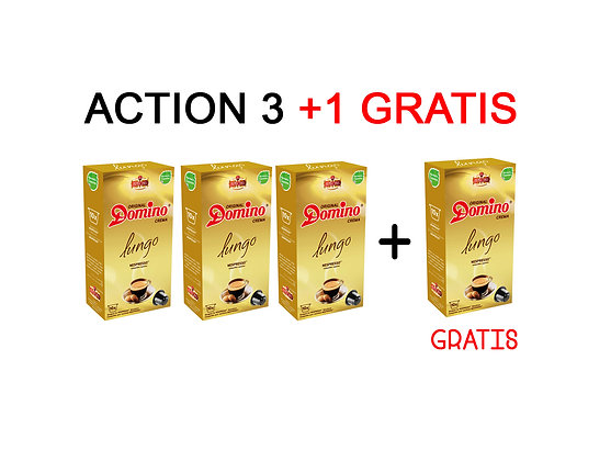 "3+1 FOR FREE PROMOTION - DOMINO NESPRESSO®* COMPATIBLE CAPSULES ""LUNGO"""