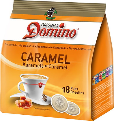 """DOMINO FLAVORED COFFEE PADS """"CARAMEL"""" - 18 PADS"""