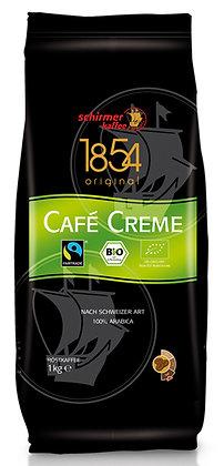 """SCHIRMER """" CAFÉ CRÈME"""" ORGANIC & TRANSFAIR 100% ARABICA 1 Kg BEANS"""