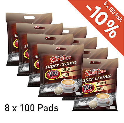 DOMINO 800 COFFEE PADS - STRONG