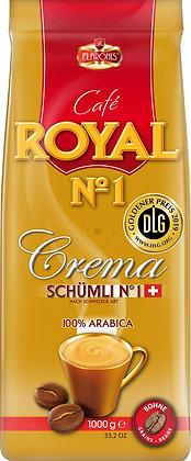 ROYAL N1 CREMA SCHÜMLI 1 KG BEANS - DLG GOLD MEDAL