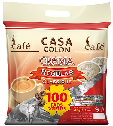 CASA COLON REGULAR - 100 COFFEE PADS