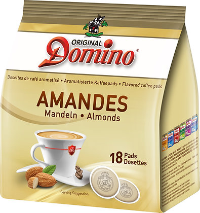 "DOMINO FLAVORED COFFEE PADS ""ALMONDS"" - 18 PADS"