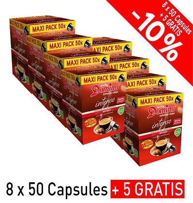 """DOMINO NESPRESSO®* COMPATIBLE COFFEE CAPSULES """"INTENSO""""- 440 capsules"""