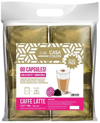 CASA COLON 80 DOLCE GUSTO®* COMPATIBLE CAPSULES - CAFFE LATTE