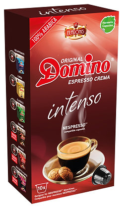"DOMINO NESPRESSO®* COMPATIBLE COFFEE CAPSULES ""INTENSO"" - 10 capsules"
