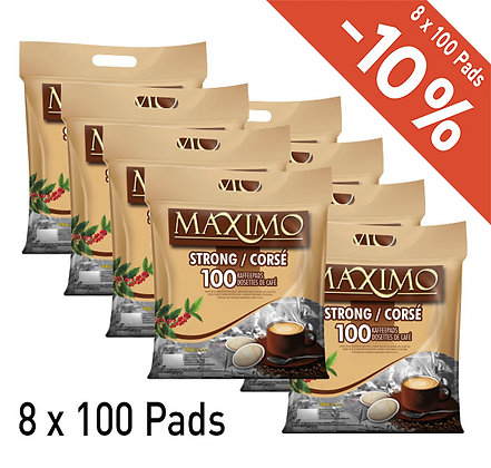 MAXIMO 800 COFFEE PADS - STRONG