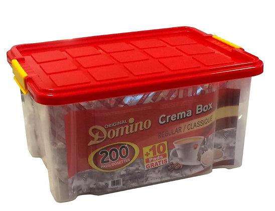 DOMINO COFFEE PADS REGULAR - BOX 200 PADS +10 FREE
