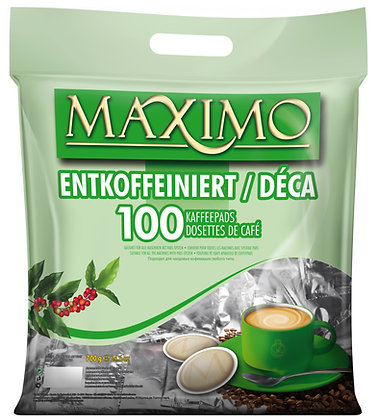 MAXIMO 100 PADS CAFEIN FREE