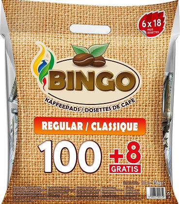 BINGO 100+8 COFFEE PADS REGULAR