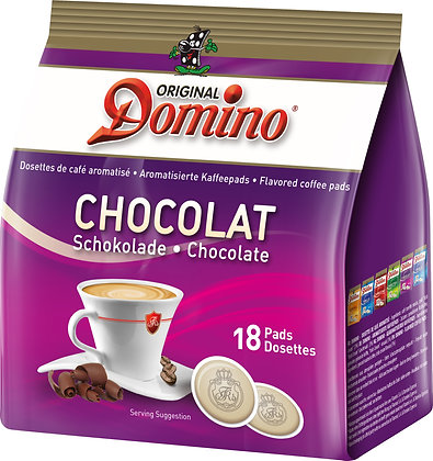 "DOMINO FLAVORED COFFEE PADS ""CHOCOLATE"" - 18 PADS"
