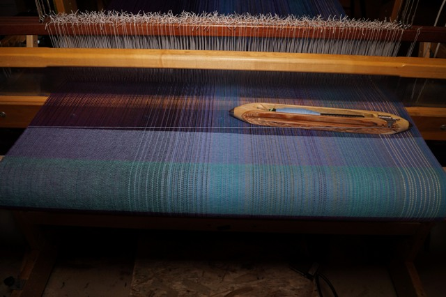 10 - Light blue - cotton or silk weft