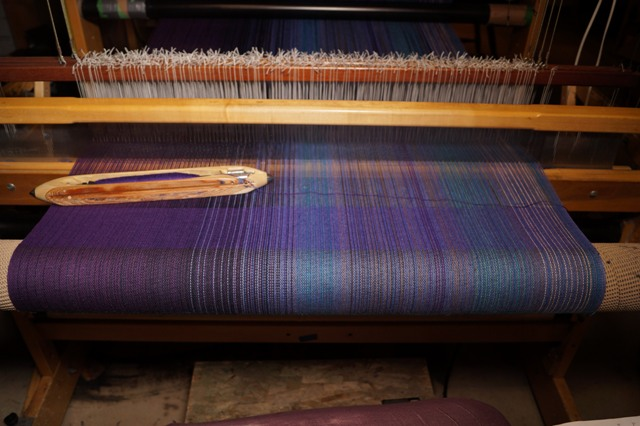 4. Purple Flax blend weft
