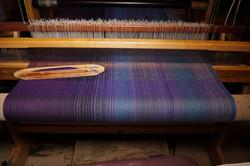 4. Purple Flax blend weft