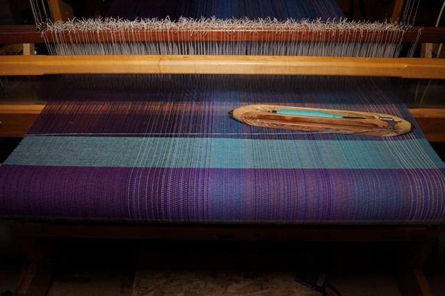 9 - Turquoise - cotton or silk weft