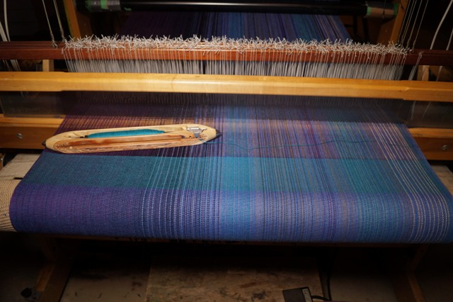 2. Aqua Flax blend weft