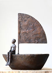 Carol Peace, Travel, bronze resin