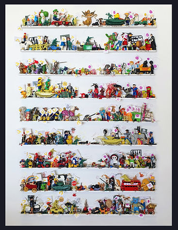 LoveJordan, War play, vintage toys assembage